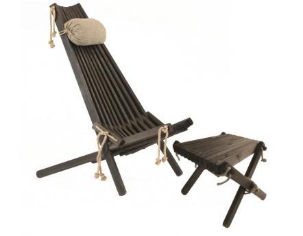 fauteuil avec repose pieds chantal en rotin et fibre. Black Bedroom Furniture Sets. Home Design Ideas