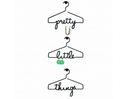 Cintre porte bijoux Pretty Little Things (Lot de 3)