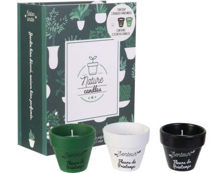 Coffret 3 bougies Nature candles