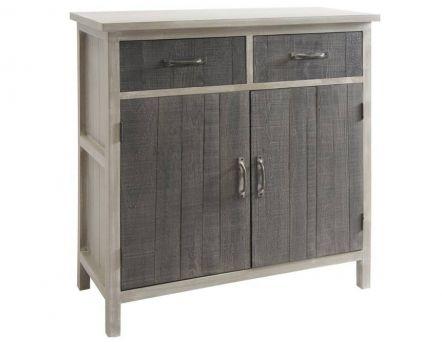 buffet 2 portes en m tal manufacture. Black Bedroom Furniture Sets. Home Design Ideas