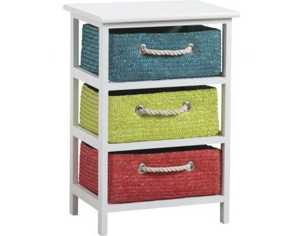 Commode 3 tiroirs Couleurs