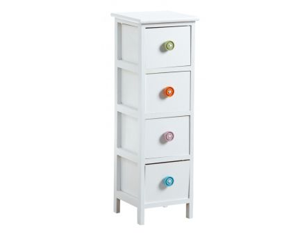 Commode 4 tiroirs avec boutons