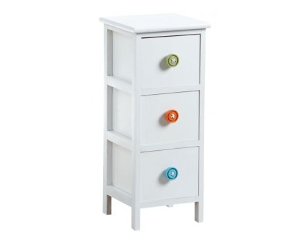 Commode 3 tiroirs avec boutons