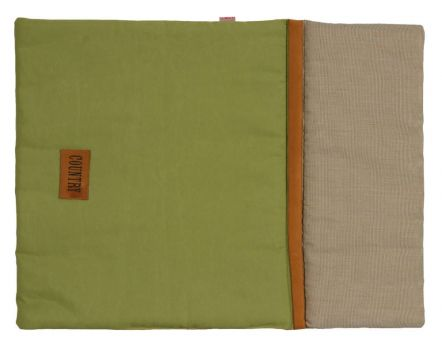 Couette chien country verte