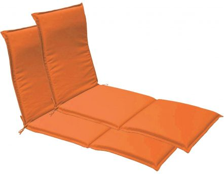 Coussin bain de soleil garden (Lot de 2) (Orange)
