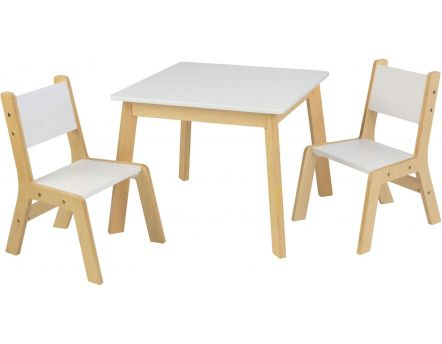 Ensemble table moderne + 2 chaises