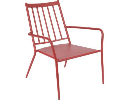 Fauteuil epoxy Camille (Rouge)
