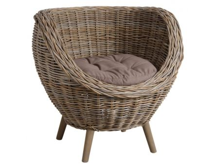 fauteuil oeuf en poelet gris. Black Bedroom Furniture Sets. Home Design Ideas