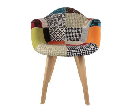 Fauteuil scandinave Patchwork (Lot de 2) (Multicolore)