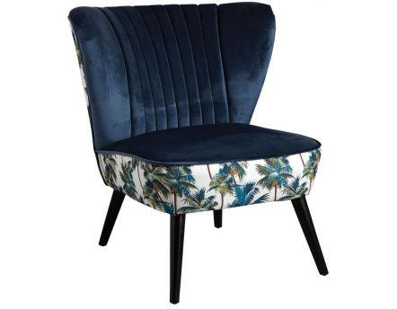 Fauteuil en velours Jungle