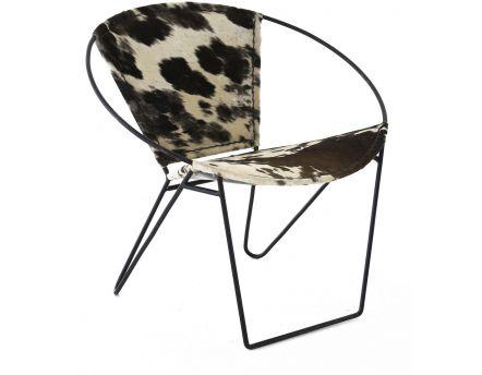 petite chaise vintage en peau de vache hickory. Black Bedroom Furniture Sets. Home Design Ideas