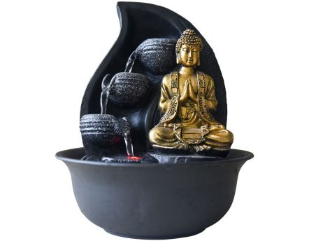 Fontaine relaxante bouddha LED Praya