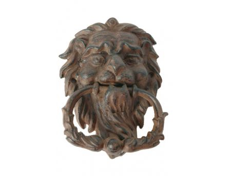 Heurtoir lion antique en fonte