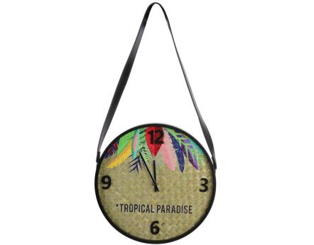 Horloge Tropical Paradise Exotique 30 cm