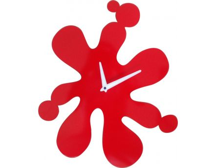 Horloge murale Splash (Rouge)