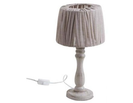 Lampe De Chevet En Bois Taupe