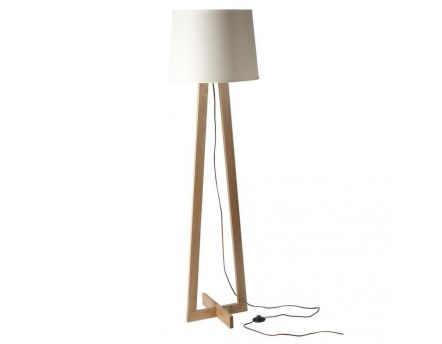 Lampe pied triangulaire scandinave abat-jour blanc