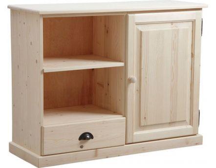biblioth que bois brut. Black Bedroom Furniture Sets. Home Design Ideas