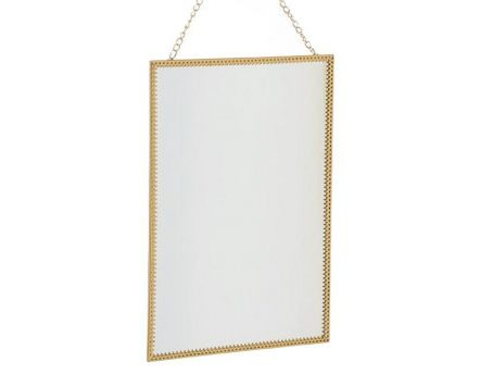 Miroir à suspendre rectangle or (Rectangle)