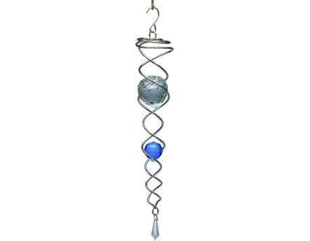 Mobile à vent design Crystal Tail (Bleu)