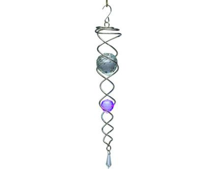 Mobile à vent design Crystal Tail (Violet)
