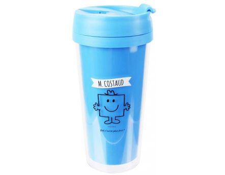 Mug de transport Monsieur Madame 40cl (M Costaud)