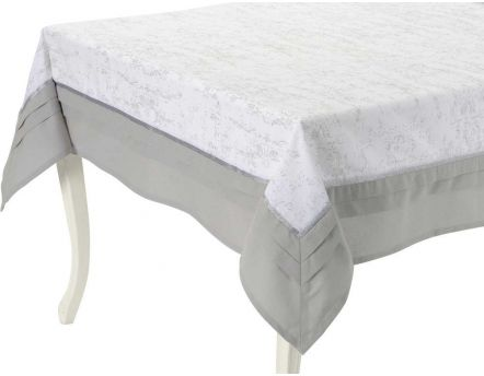 Nappe blanche & grise