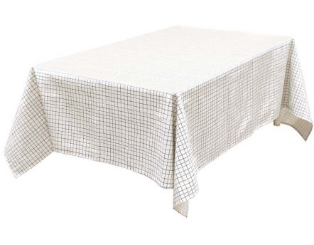 Nappe à motifs pour table rectangulaire 140x240 cm (Quadrillage)