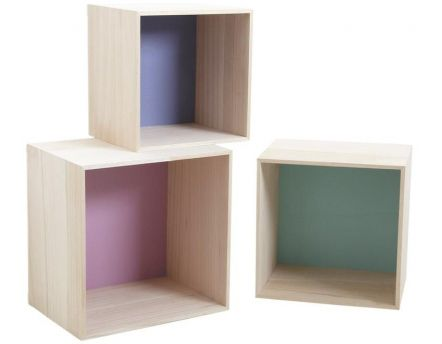 etag re murale maison 6 cases violet. Black Bedroom Furniture Sets. Home Design Ideas