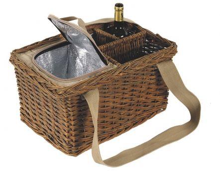 panier pique nique en osier sac dos jardindeco. Black Bedroom Furniture Sets. Home Design Ideas