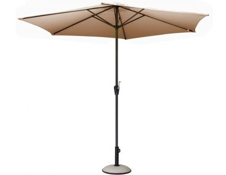 Parasol rond 3m Toile polyester (Taupe Taupe)