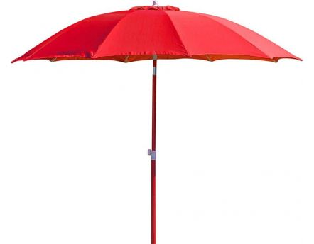 Parasol rond inclinable aluminium 2,70m (Rouge)