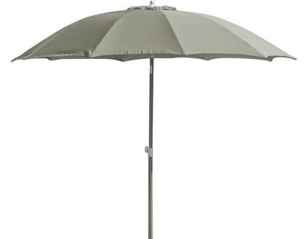 Parasol rond inclinable aluminium 2,70m (Taupe)
