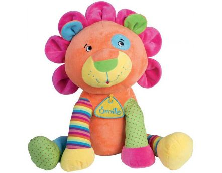 Peluche lion multicolore