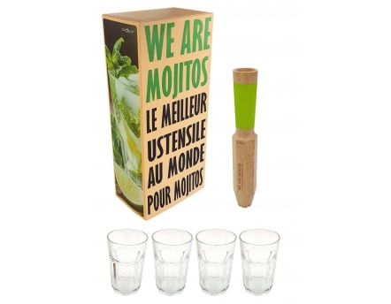 Pilon-doseur We are mojito et 4 verres