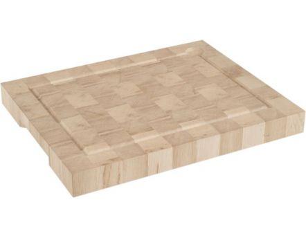 Billot poser en bois de bout 50x40 cm for Planche en bois blanc