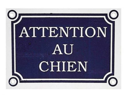 Plaque murale chien (Attention au chien)