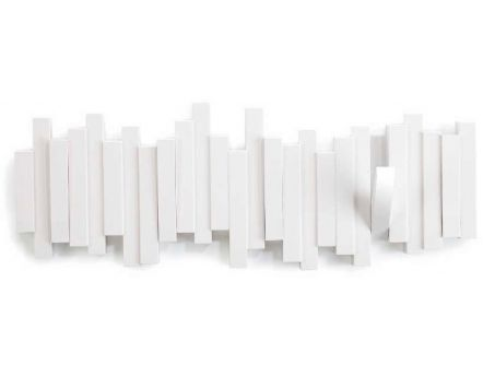 Porte manteau design mural Sticks (Blanc)