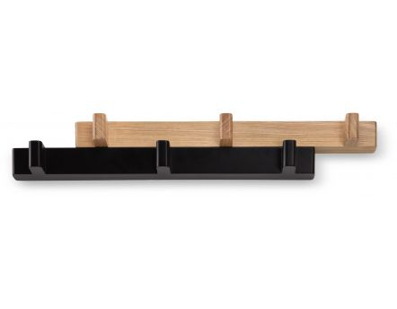 Porte-manteaux extensible Switch (Noir/Naturel)