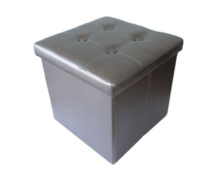 Pouf pliable Oxford (PVC Bronze)
