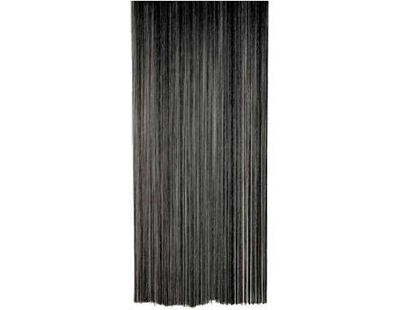 Rideau fil de porte en polyester (blanc)