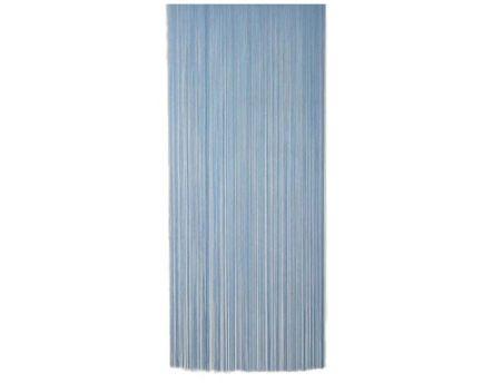Rideau fil de porte en polyester (bleu)