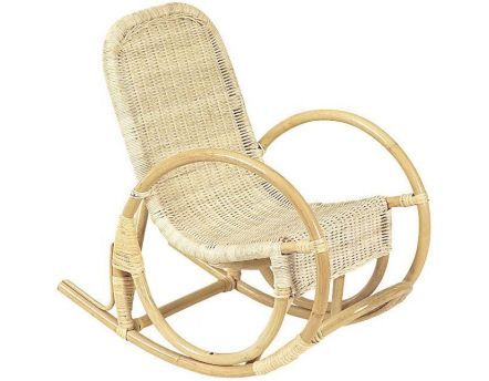 Rocking chair pour enfant en rotin