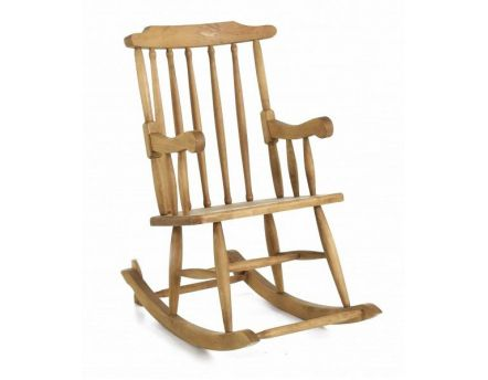 Rocking-chair en pin massif (Miel)