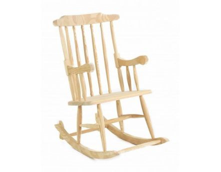 Rocking-chair en pin massif (Naturel)