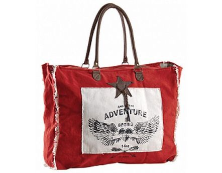 Sac en coton décor Adventure (Rouge)