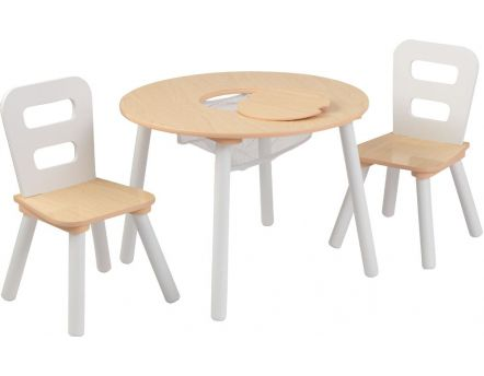 Salon pour enfant design (Naturel, blanc)