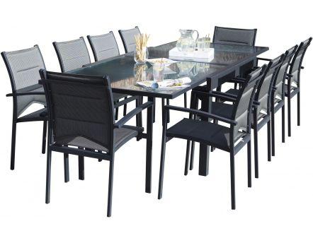 salon de jardin design 1 table 6 fauteuils. Black Bedroom Furniture Sets. Home Design Ideas