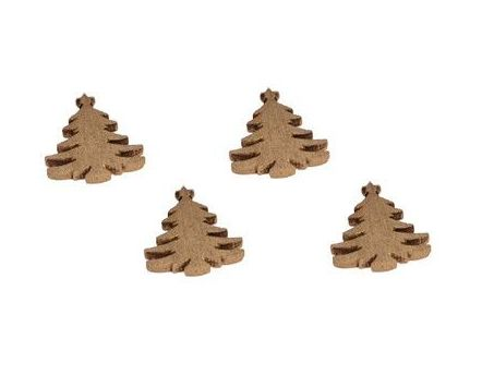 Sapins à poser déco de table (Lot de 24) (Doré)
