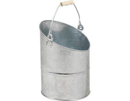 Jardini re bassine en zinc givr - Seau a cendre ...